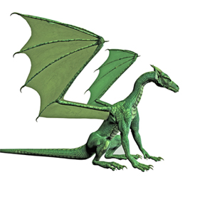 Emerald Dragon_sitting